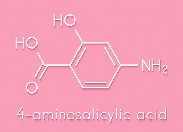 chemical representation of aminosalicylic acid
