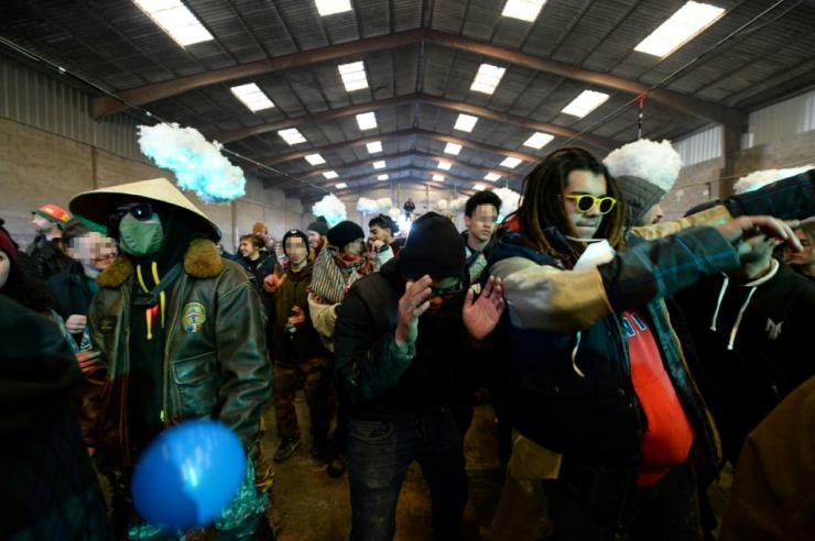 An estimated 2,500 people took part in the rave despite France's coronavirus restrictions