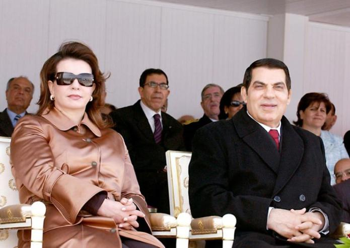 Tunisia's autocratic president Zine El-Abidine Ben Ali, pictured here with his wife Leila, fled amid the mass protests to Saudi Arabia, where he later died