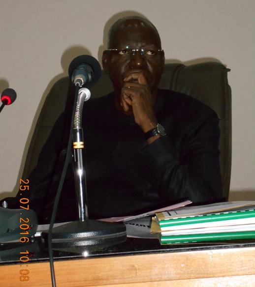 Le président de l'Assemblée nationale Dr. Salifou Diallo, aux préoccupations des députés