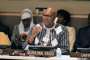 Le Président du Faso, Roch Marc Christian Kaboré, s'exprimant pendant les rencontres thématiques à l'ONU