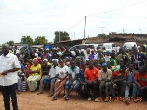 La population est sortie nombreuse pour être témoin de la cérémonie