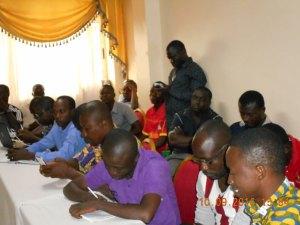 Plus d'une cinquantaine de journalistes ont pris part à cette conférence de presse.