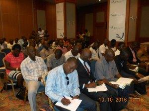 Les journalistes présents à la conférence de presse