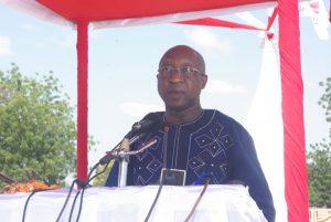 Le premier ministre Paul K Thiéba lors de son discours