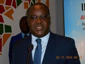 Le Directeur Général de lma BRVM, MEdoh Kossi Amenounvéde, lors de son intervention/