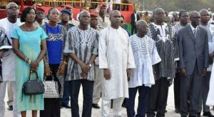 Les membres du gouvernement présent à la cérémonie