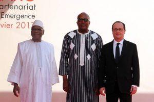 Le Président Roch Kaboré et ses homologues du Mali et de la France