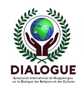 Le logo du symposium international sur le dialogue interreligieux et interculturel de Ouagadougou
