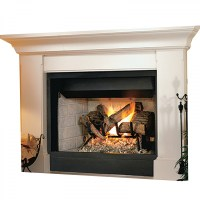 """IHP Superior BRT2532TEN 32"""" NG Fireplace-Whte Stkd Hrth"""