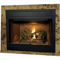 "IHP Superior BRT4342TEP-B 42"" NG Fireplace w/Whit Stckd ..."