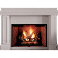 "IHP Superior BRT4542TEN-B 42"" NG Fireplace w/White Hrgbn Pnls"
