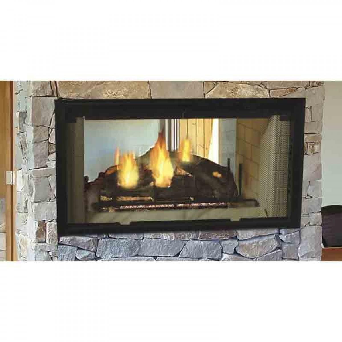 Majestic Designer SeeThrough Wood Burning Fireplace