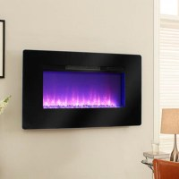Pleasant Hearth Electric Wall Mount Fireplace