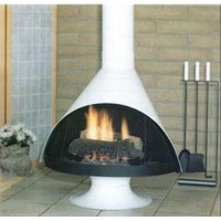 Malm Zircon 34 Inch Wood Burning or Gas Fireplace in Matte ...