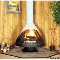 Malm Zircon 38 Inch Wide Wood Burning Fireplace in Matte Black