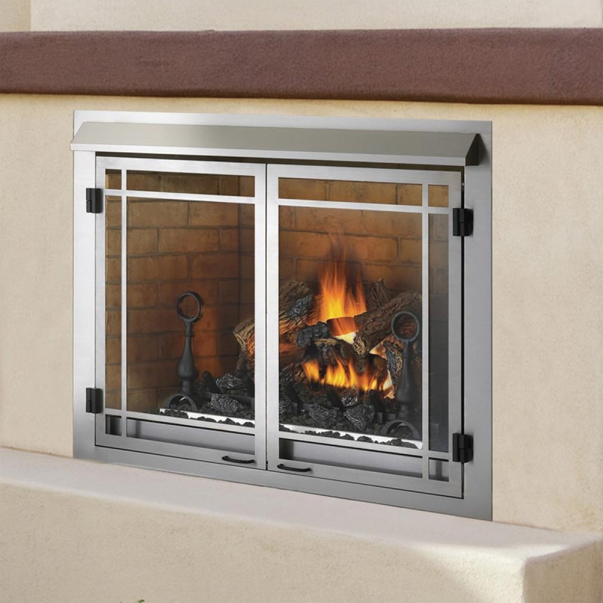 Napoleon Gss42n Outdoor Natural Gas Fireplace At