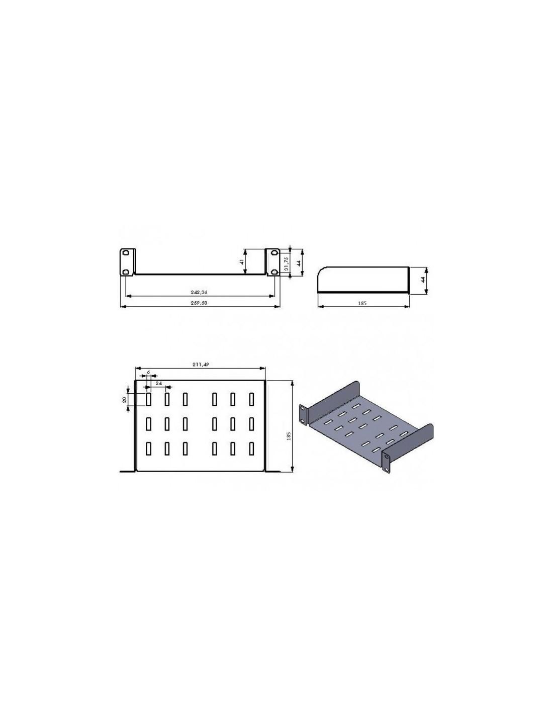 10 Shelf for Cabinet Rack, Grey