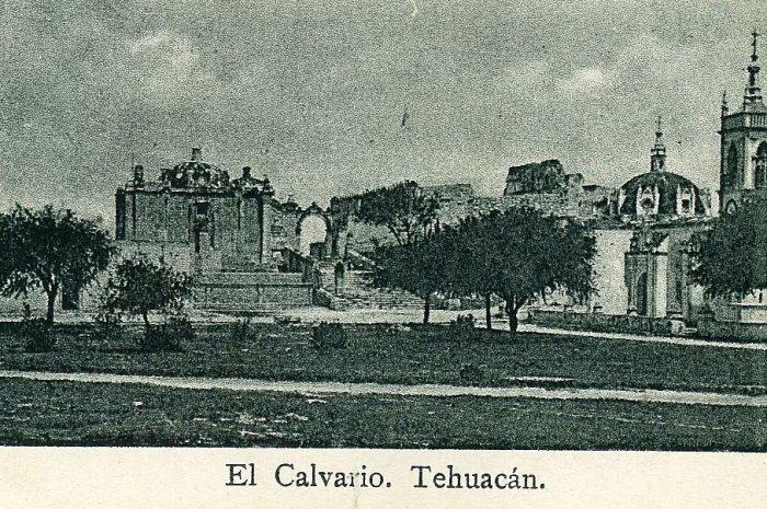 Las ruinas de El Calvario de Tehuacan antes de su remodelacion