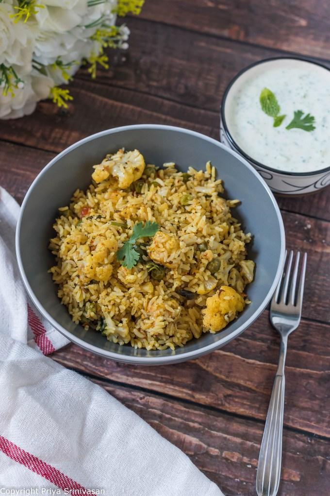 paneer and peas rice