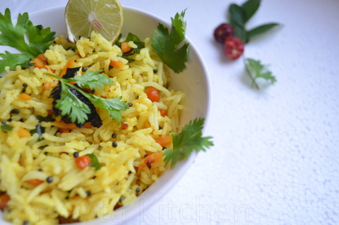 lemon mixed rice