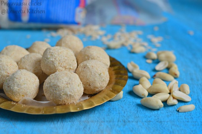 Poha and nuts ladoo