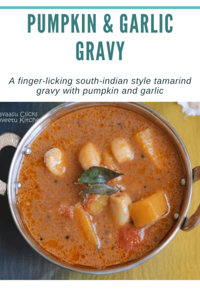 Tamarind gravy with garlic