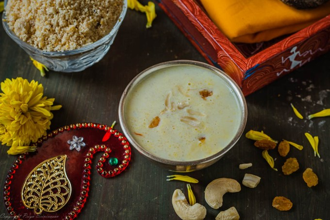 Kheer with instant kheer mix