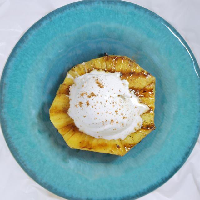 Cinnamon Rum Spiked Grilled Pineapple