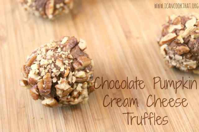 Chocolate Pumpkin Cream Cheese Truffles