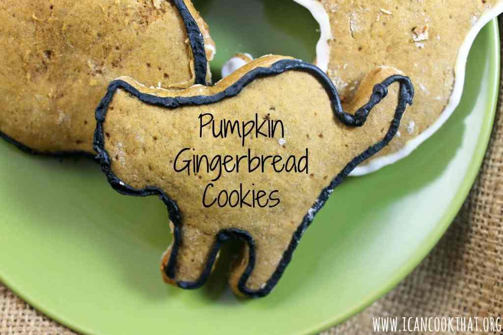 Pumpkin Gingerbread Cookies