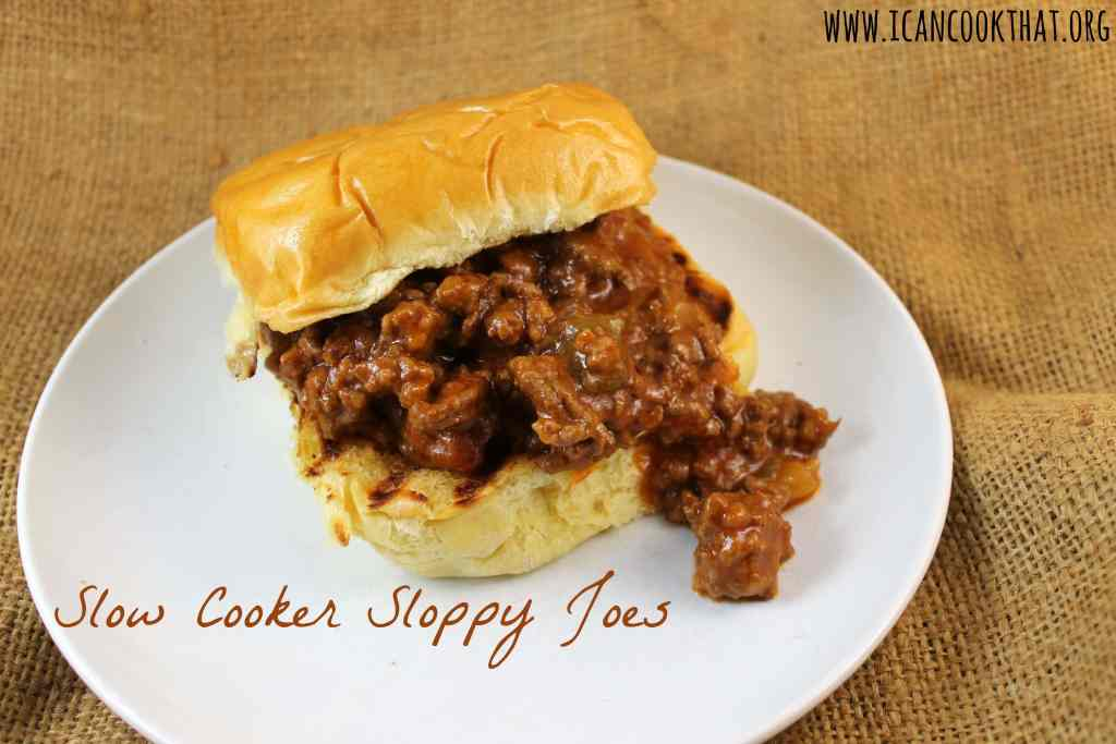Slow Cooker Sloppy Joes