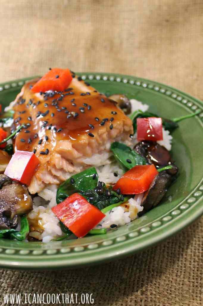 Lime-Teriyaki Salmon Rice Bowls