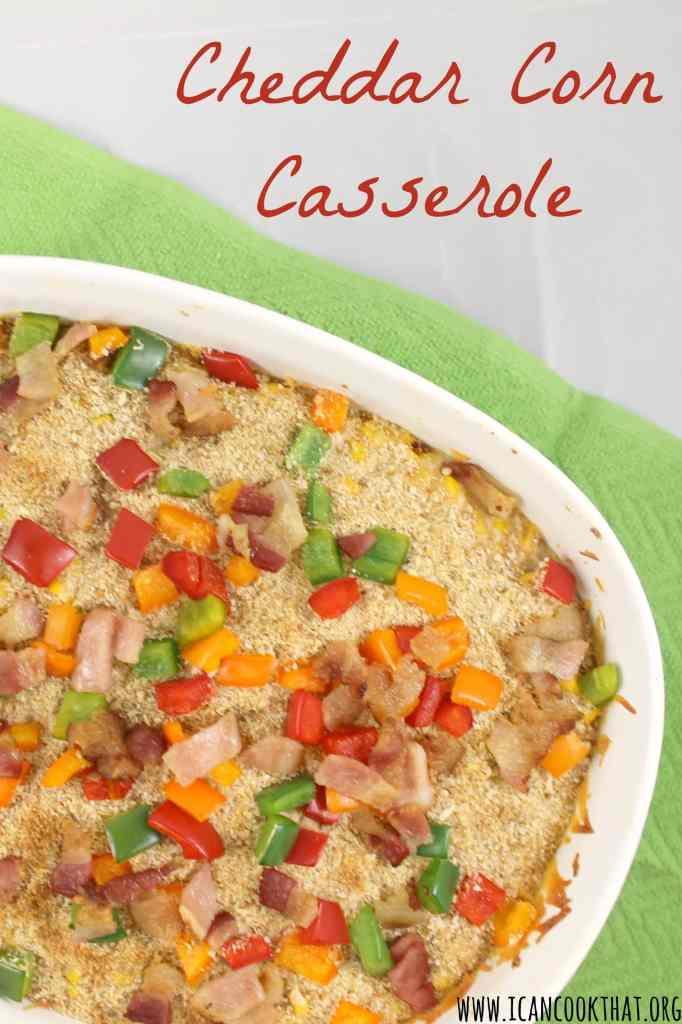 Cheddar Corn Casserole
