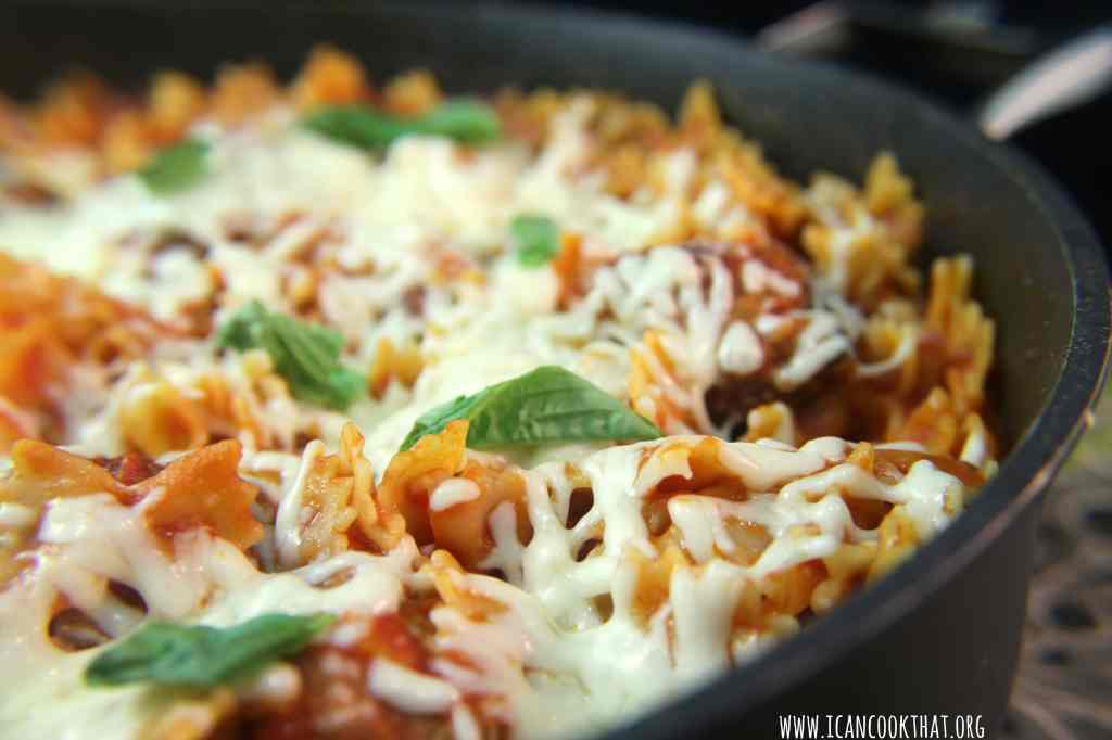 Quick Meatball and Pasta Bake