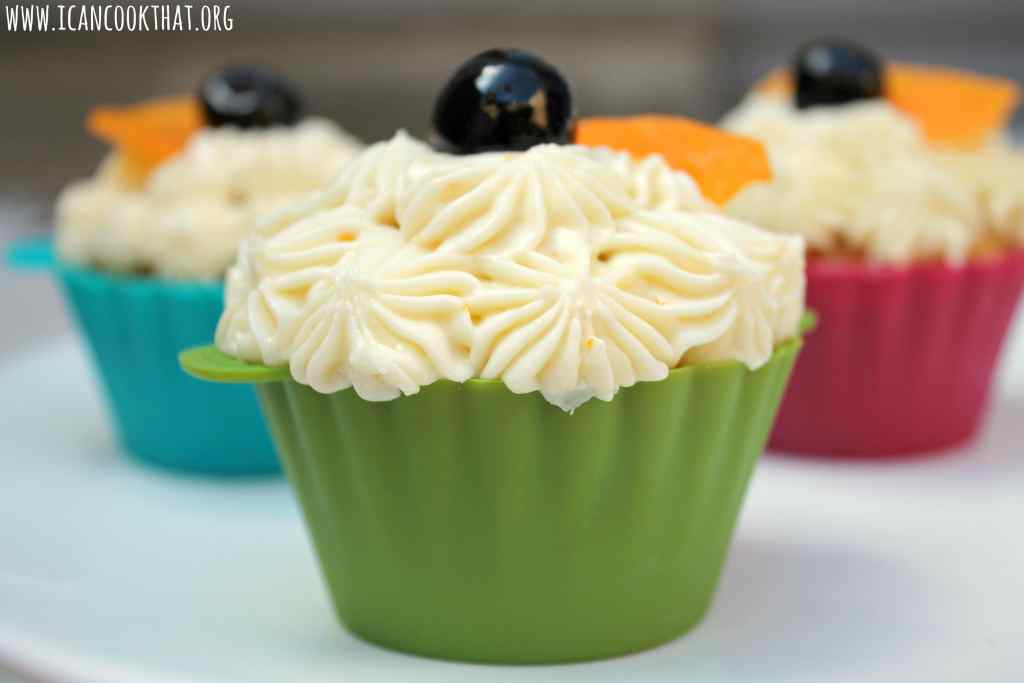 Old Fashioned Cupcakes- Vanilla-Orange Cupcakes with Bourbon-Orange Cream Cheese Frosting