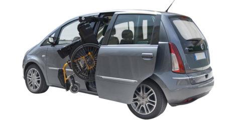 Ο Βραχίονας ανύψωσης αναπηρικού αμαξιδίου είναι ένας αρθρωτός βραχίονας που στερεώνετε στο πάνω μέρος της κολόνας του αυτοκινήτου.