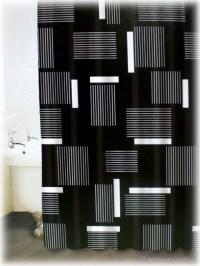 Black and White Shower Curtain Set - Decor Ideas