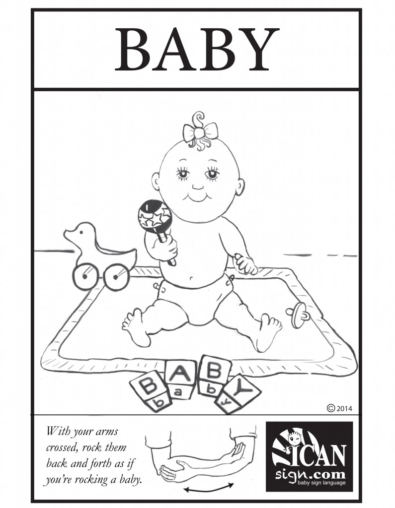Baby Sign Language Flashcard: Baby