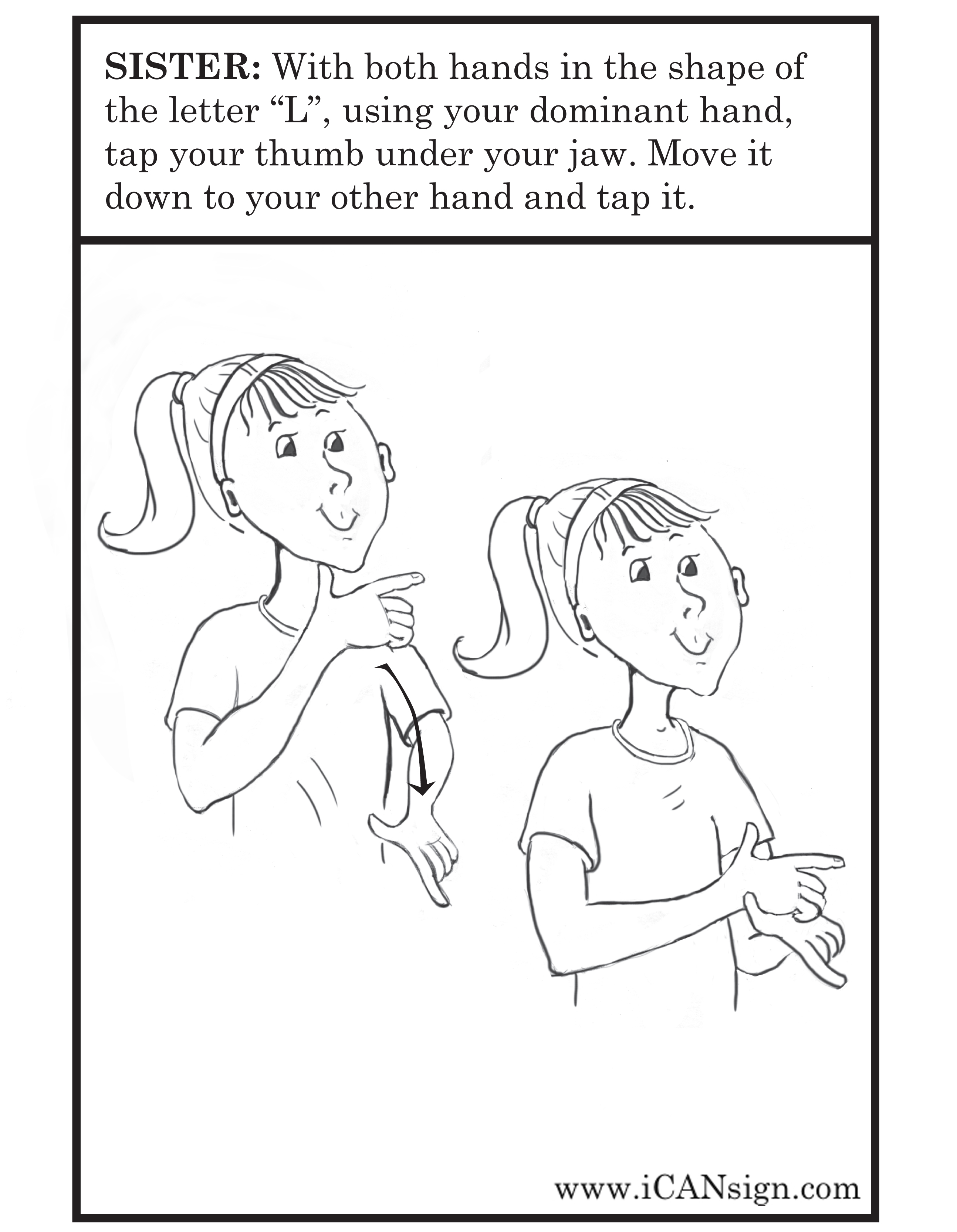 Baby Sign Language Flash Cards Sister