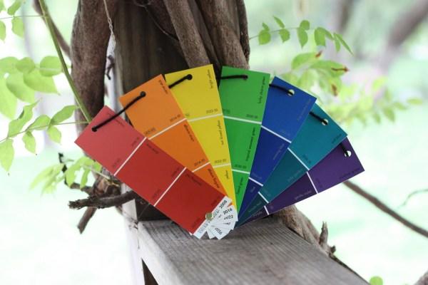 Rainbows Paint Samples