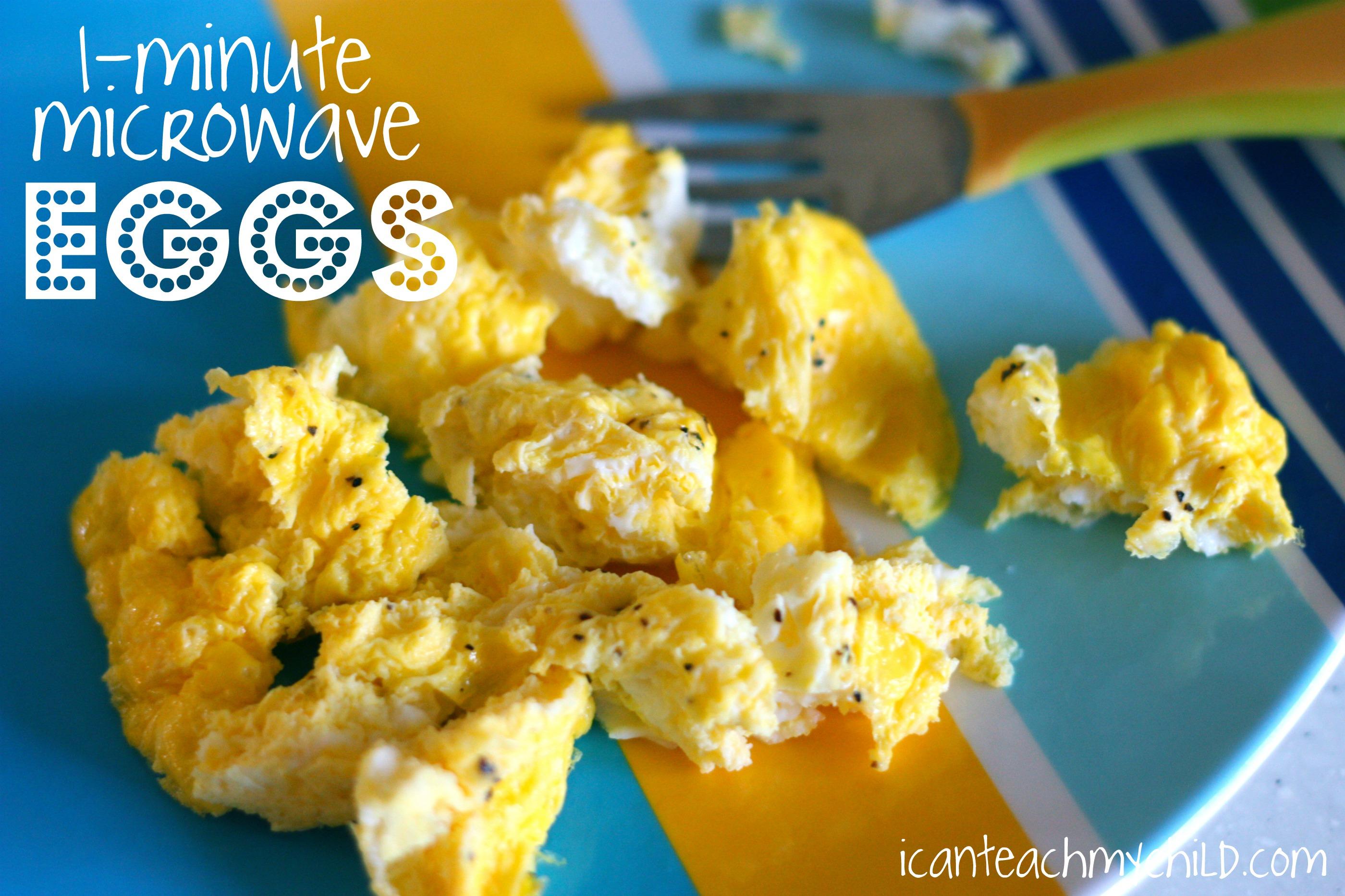 1 minute microwave eggs i can teach