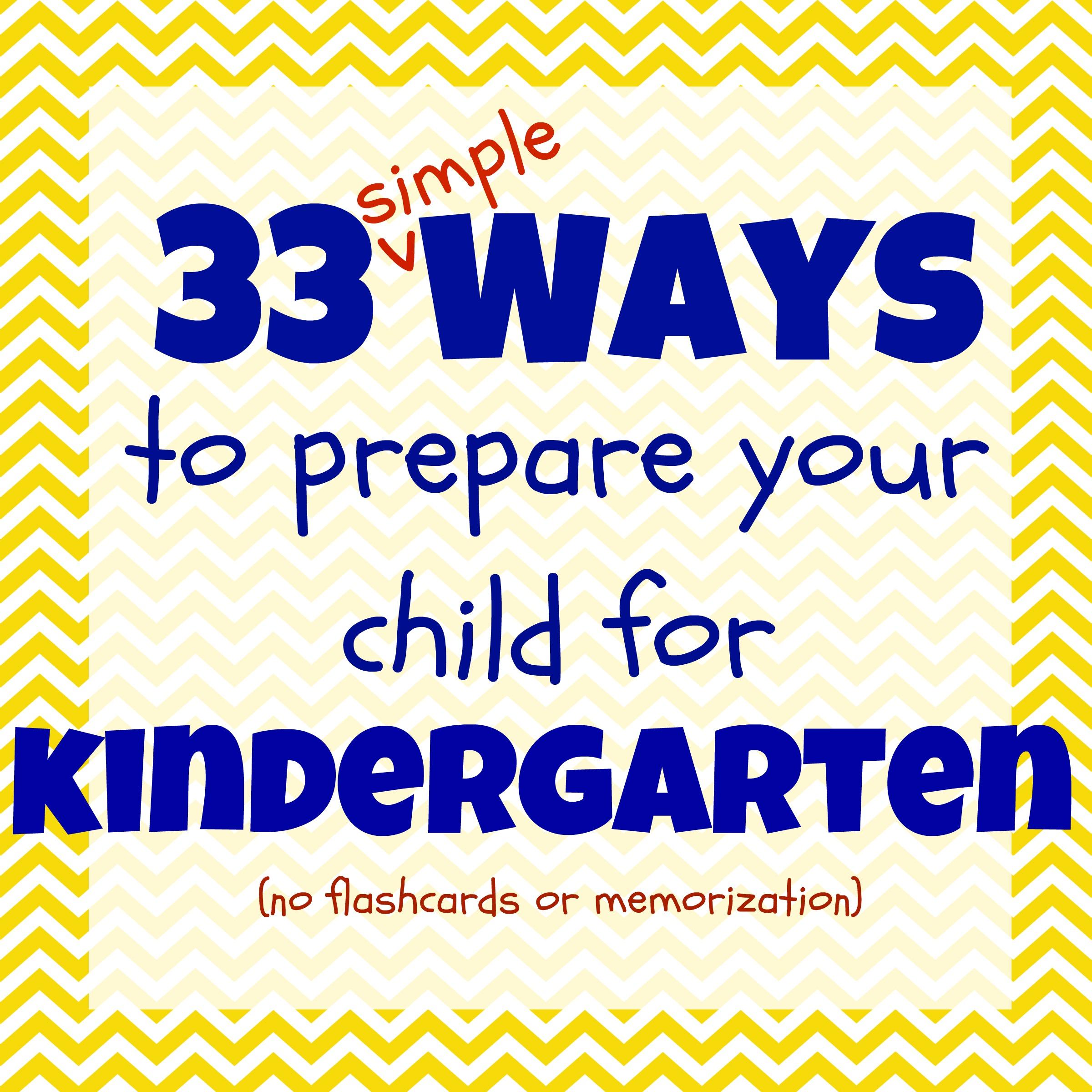 Kindergarten Readiness Checklist 33 Ways To Get Your