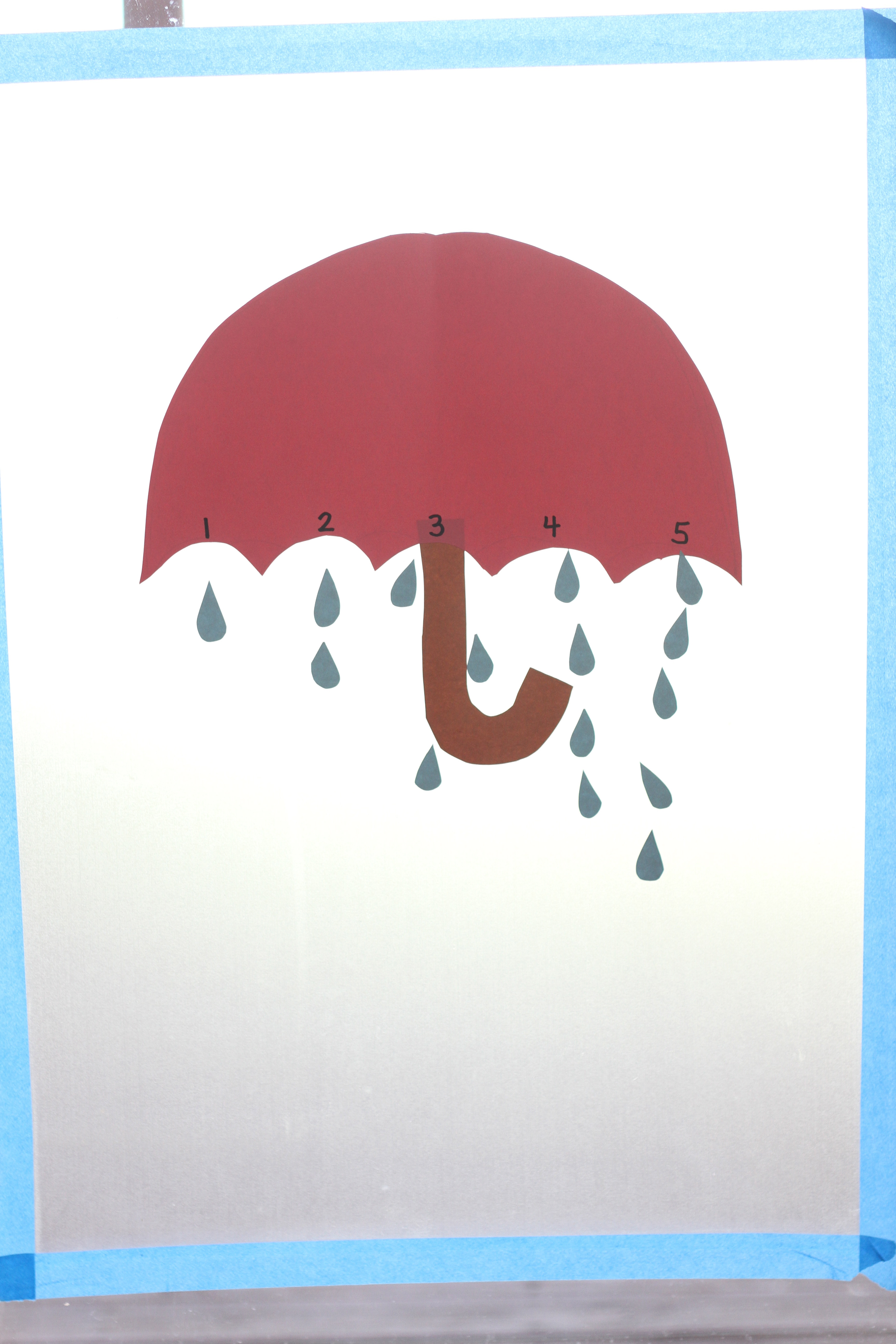 April Showers One To One Correspondence Activity