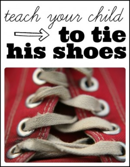 From tears to cheers...teach your child to tie hisher shoes 300x384 Tips for Teaching Your Child How to Tie Shoes