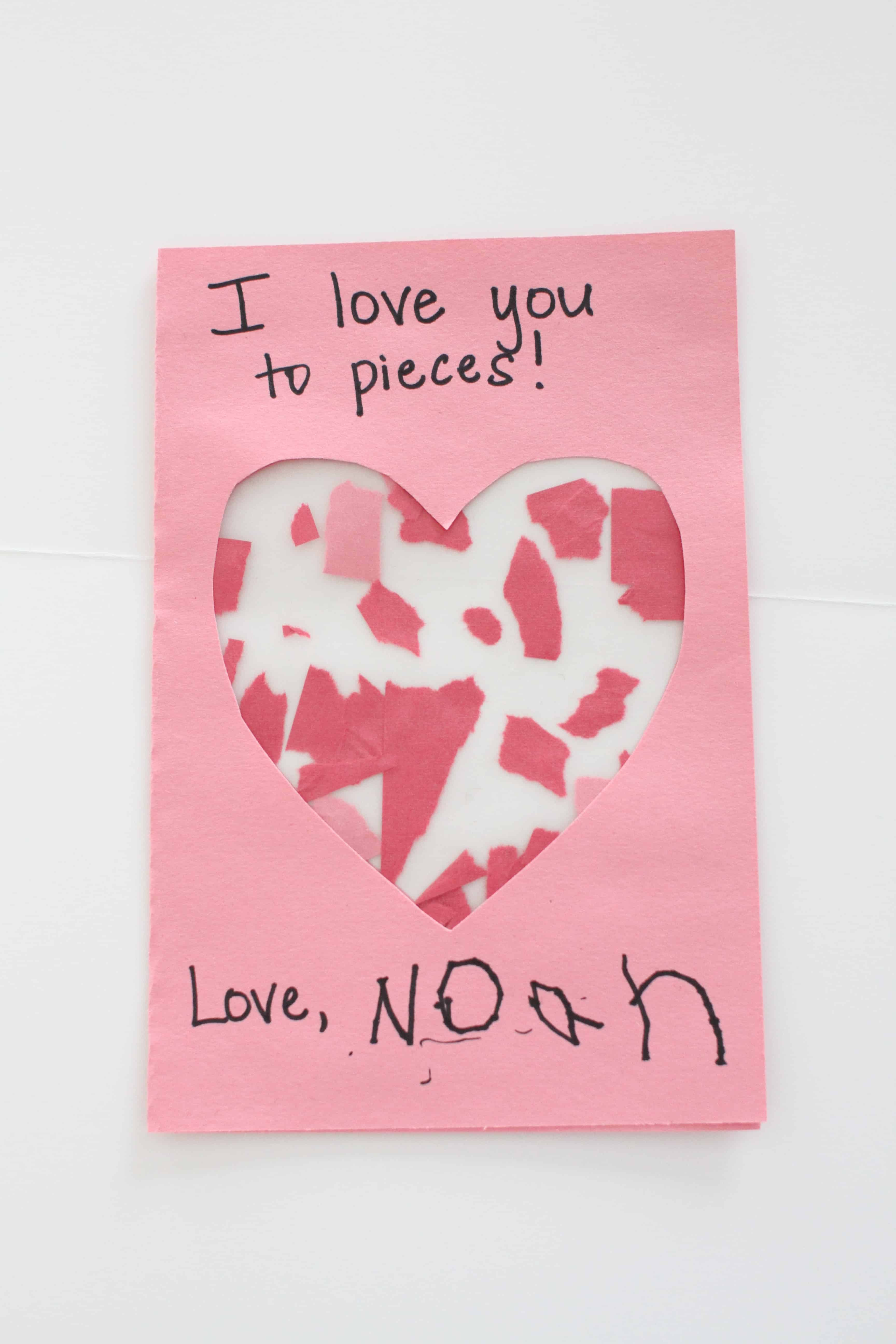 I Love You To Pieces Valentines