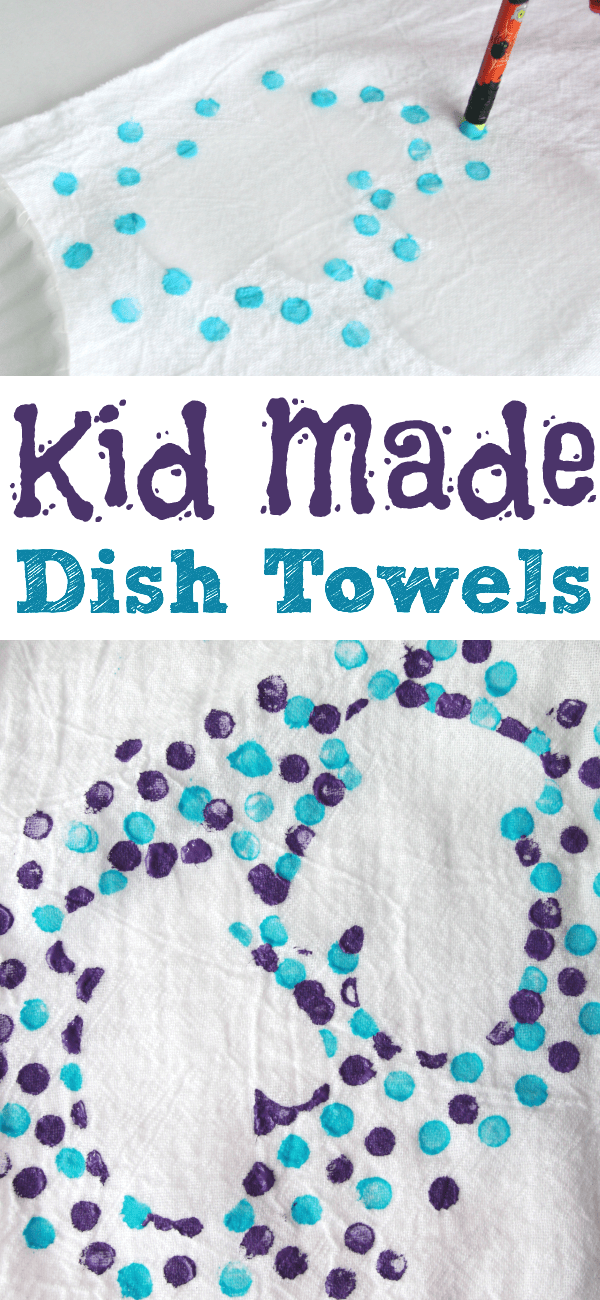 kid made dish towels