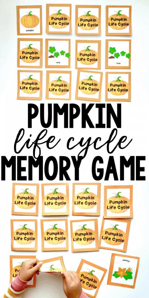 small resolution of pumpkin life cycle printable memory game