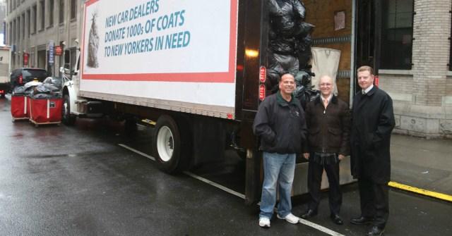 New York Car Dealers Deliver Coats