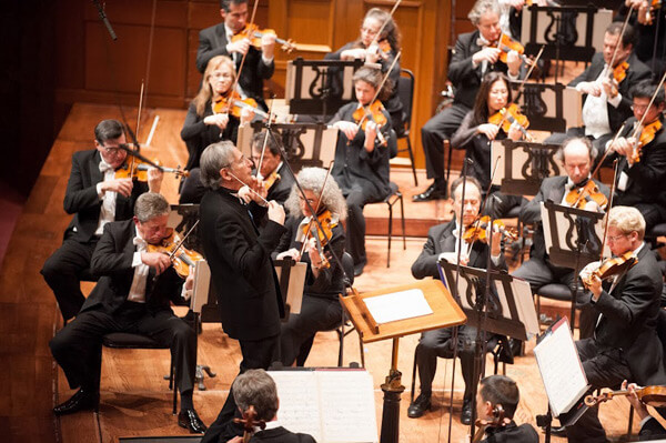 Michael Tilson Thomas conducts the SFS in the Opening Concert of the American Mavericks Festival.